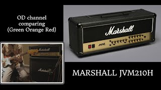 MARSHALL JVM210H OD channel comparing(Green Orange Red)