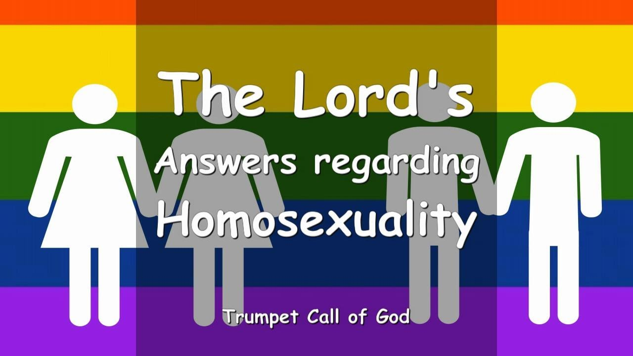 Homosexuality is an abomination in the eyes of the lord