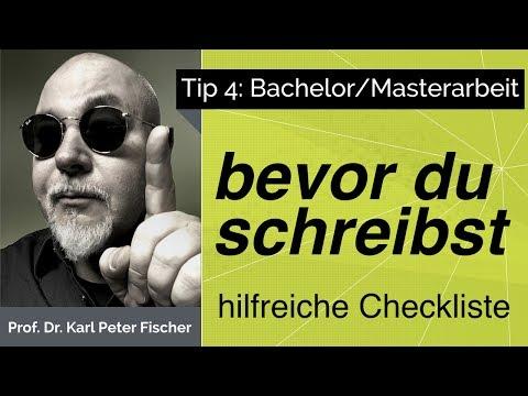 Tip 4 Bachelorarbeit Masterarbeit Startcheck