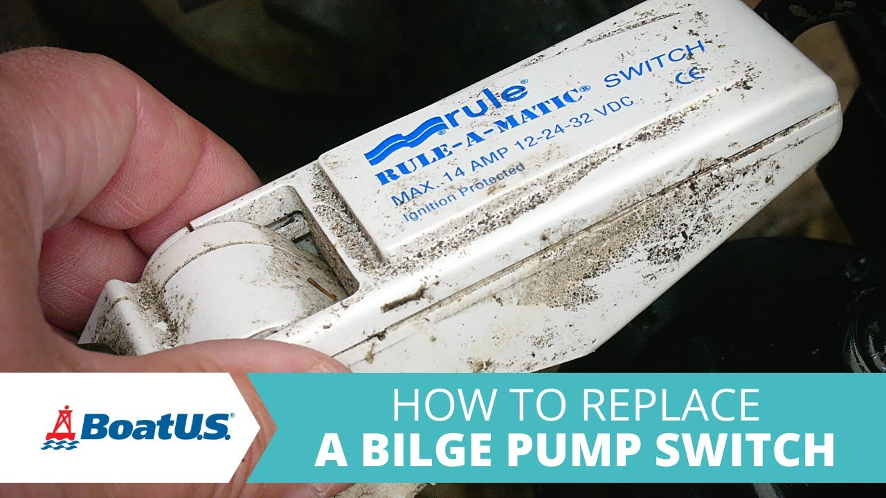 how to replace the bilge pump float switch on your boat boatus [ 1280 x 720 Pixel ]