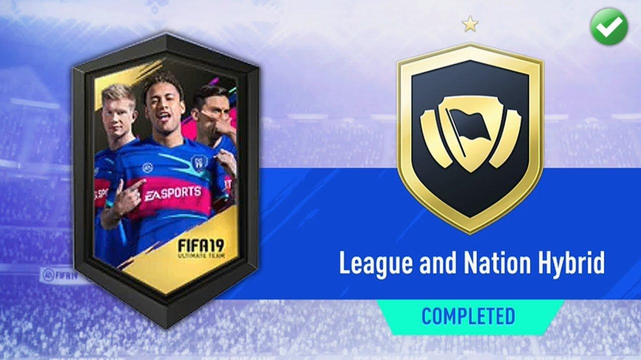 LEAGUE & NATION HYBRID SBC! (CHEAP & EASY) | FIFA 19 Ultimate Team