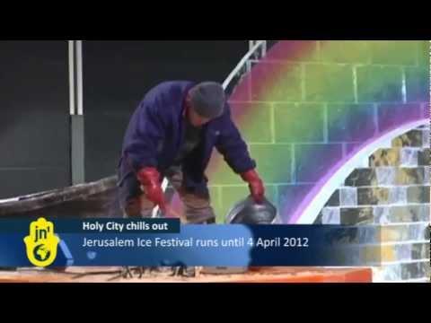 Jerusalem's International Ice Festival: Harbin's Artists Make Ice Sculptures at Old Train Station