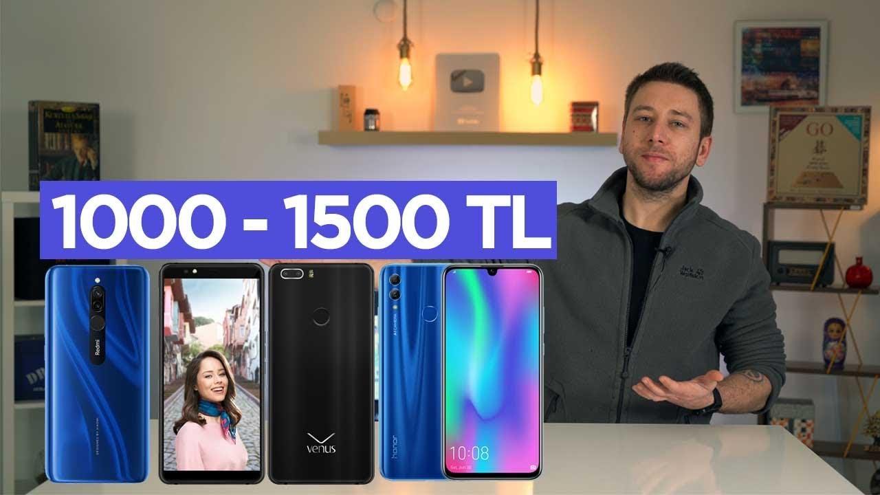 1000 - 1500 TL arası en iyi telefonlar 2020