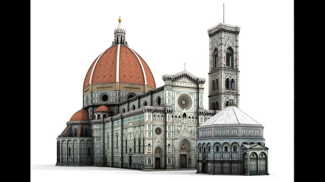 florence cathedral 3d model from cgtrader com