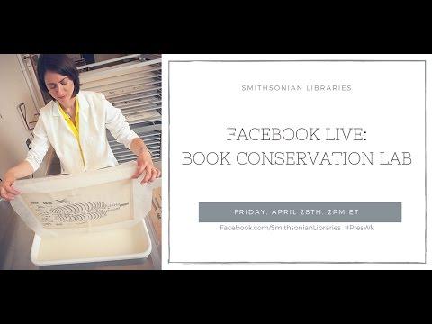 Tour of Book Conservation Lab for Preservation Week