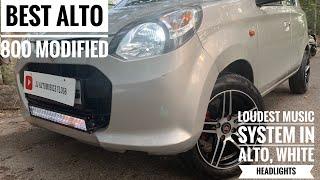 "ALTO 800 modified | loud music system in alto | 14"" alloy wheels | karol bagh car market"
