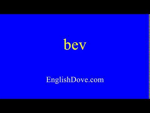 How to pronounce bev in American English.