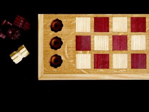 "Ręcznie rzeźbione warcaby ""Sifor"" / Hand carved checkers"