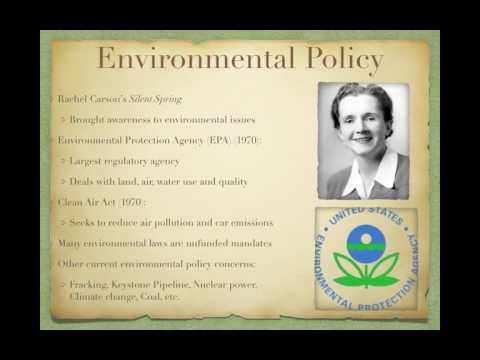Gov Review Video #45: Environmental and Healthcare Policy