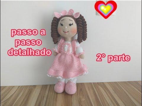 Boneca de Crochê com receita passo a passo: Amigurumi com Receita ... | 360x480