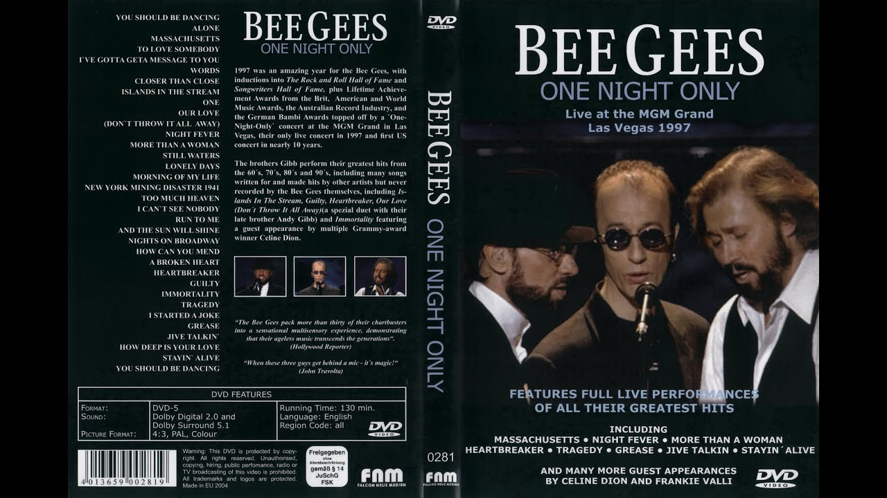 Bee Gees One Night Only 1997 Show Completo 720p Hd