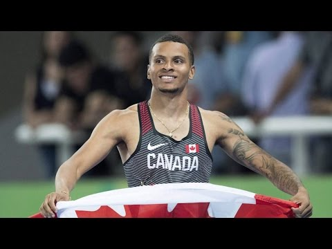 Andre De Grasse voted male athlete of the year