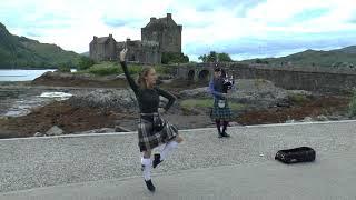 Fanny Aubret Highland Fling at Eilean Donan Castle