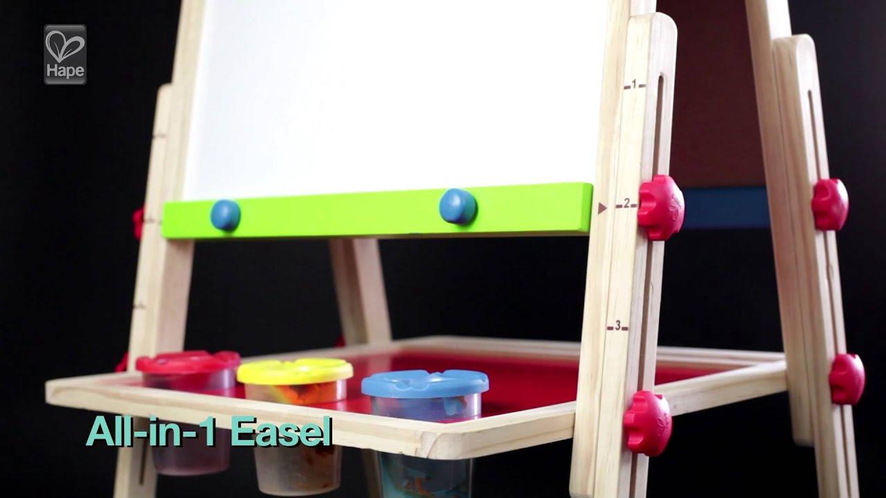 grand tableau double face pour enfants jouet hape youtube. Black Bedroom Furniture Sets. Home Design Ideas