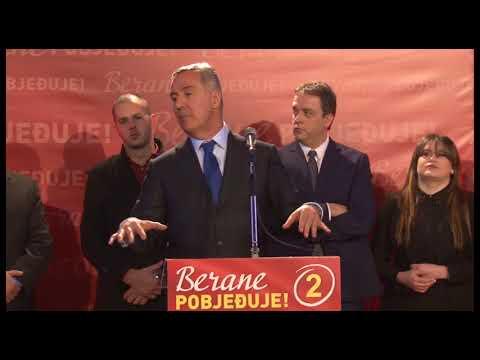 Predsjednik DPS-a Milo Djukanovic MZ Dolac, Berane promotivni skup