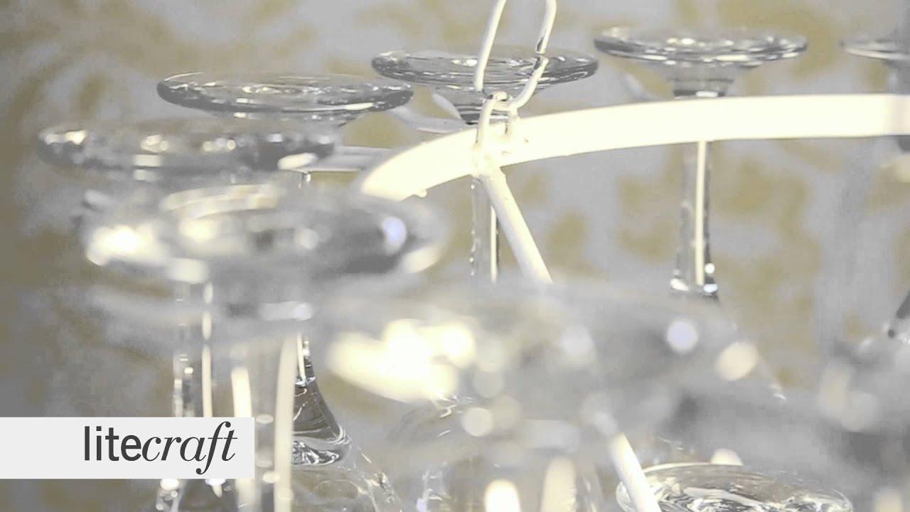 3 Tier White Wine Glass Chandelier