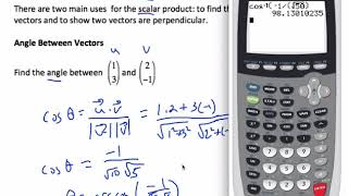 Dot Product (Scalar Product)