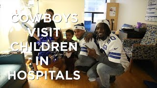 Dallas Cowboys players and cheerleaders visit children in North Texas Hospitals