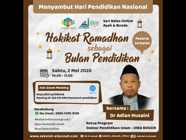 Hakikat Ramadhan sebagai Bulan Pendidikan