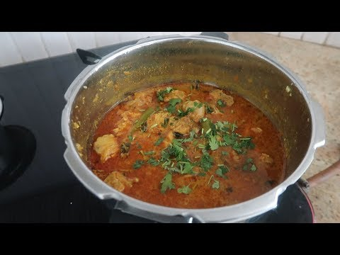 CHICKEN CURRY IN PRESSURE COOKER - JULY2019