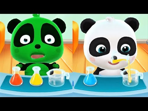 Baby Play Color Mixing - Learn Colors With Little Panda - Cartoon Gameplay Video For Kids