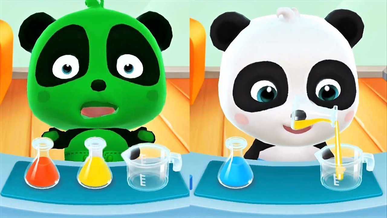 Baby Play Color Mixing - Learn Colors With Little Panda - Cartoon ...