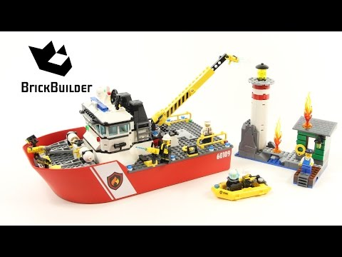 Lego City 60109 Fire Boat - Lego Speed Build - YouTube