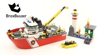 Kijk Lego City  60109 Brandweerboot  filmpje