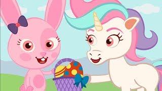 Conejo de PASCUA y juegos con HUEVOS SORPRESA ♫ HD ☁️🦁☁️