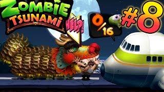 Zombie Tsunami 8 Кушаем людишек вместе с папой.Мультик про ЗОМБИ. ВЫЖИВАНИЕ
