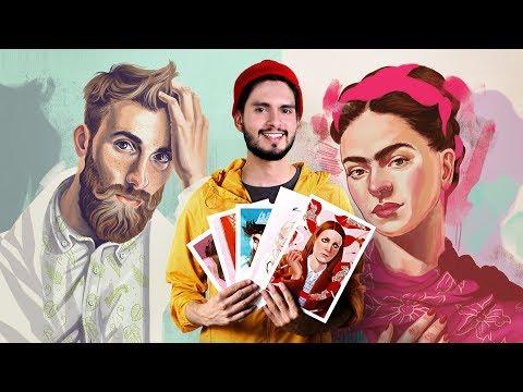 Curso Online. Técnicas Digitales De Retrato Ilustrado