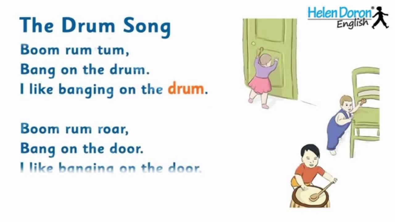 drum song english songs babies lyrics