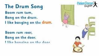 The Drum Song - English Songs for Babies, with Lyrics