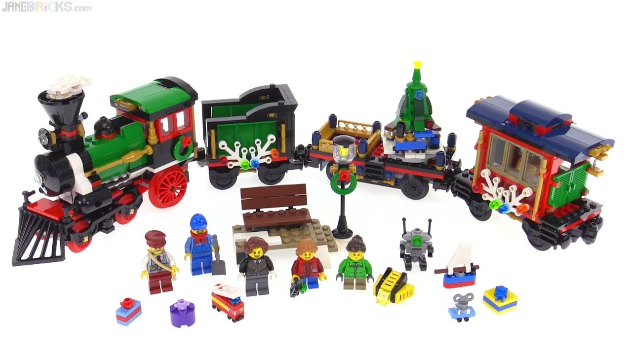 lego 2016 winter holiday train review test 10254 youtube