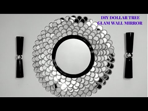 DIY DOLLAR TREE GLAM WALL MIRROR