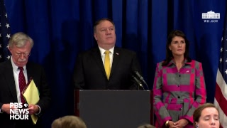 WATCH: Secretary of State Mike Pompeo, Nikki Haley and John Bolton hold a news conference