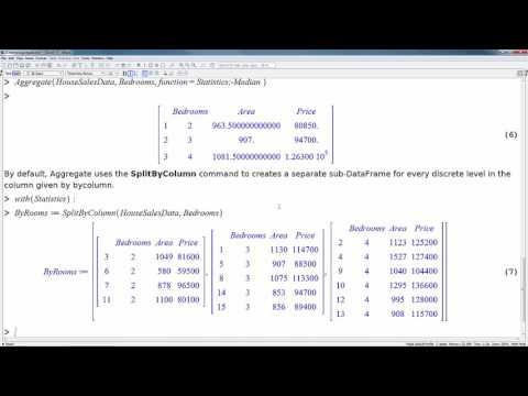 Tutorials: Statistics with Maple