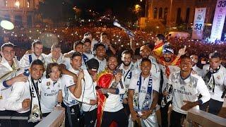 ¡Y NOS VAMOS PA' CARDIFF! | Celebración del Real Madrid en Cibeles - Campeones de la Liga 2016-2017