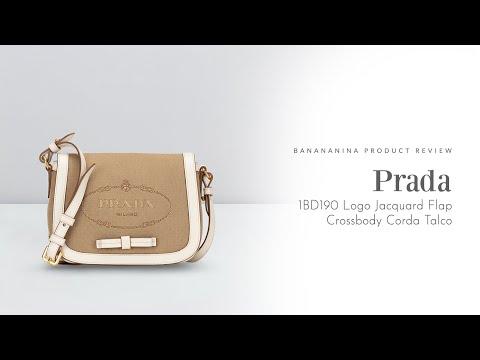 Banananina Product Review: Prada Logo Jacquard Flap Crossbody Corda Talco