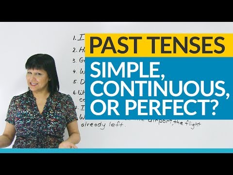 Learn English Tenses: Past Simple, Past Continuous, Past Per