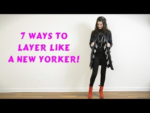 how to wear layers to keep warm