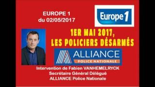 1er mai 2017,  les policiers désarmés