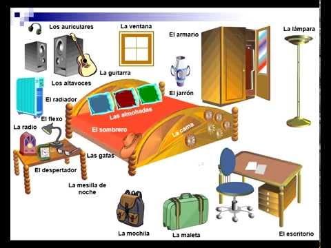 Spanish Vocabulary The Bedroom Youtube
