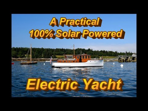 A Practical 100% Solar Powered electric Yacht