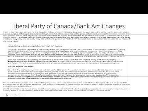 Banking Sector for  Canada including Risks and Threats