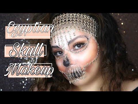 Halloween Makeup Tutorial Cleopatra Inspired Sugar Skull thumbnail