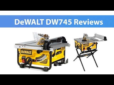 DW745 10 Inch Compact Job Site With DEWALT DW7450 Table Saw Stand