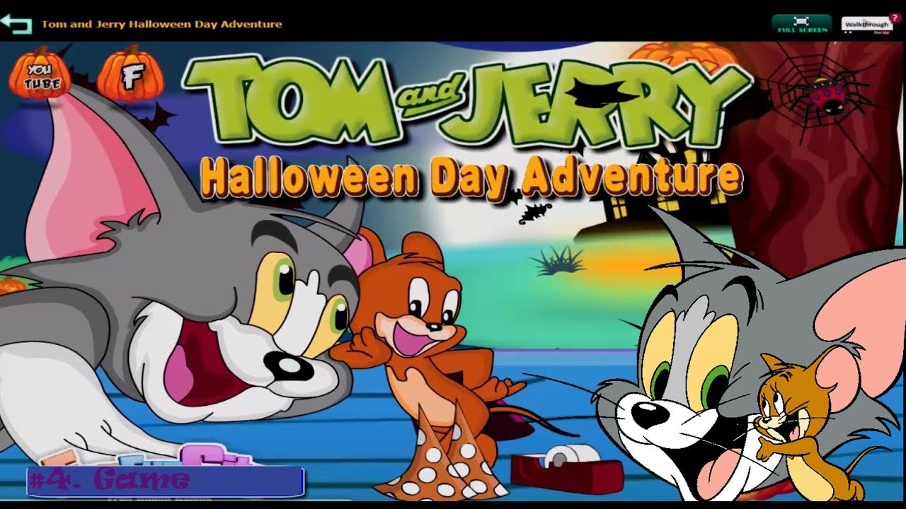 tom and jerry  halloween day adventure 1  tom and jerry