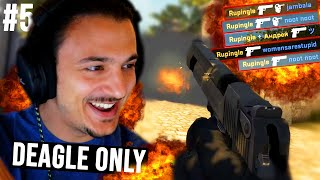 Can I Win... With The DEAGLE Only?!? (CS GO ROAD TO GLOBAL 2020 #5 + Funny Moments)