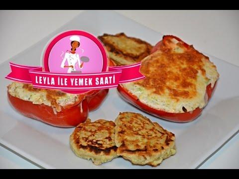Kabaklı Labneli Biber Dolması ve Kabaklı Mücver Tarifi - Leyla ile Yemek Saati
